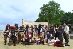 Group picture on Shipwreck Isle Pirate festival 2015, Isle of wight-UK
