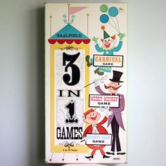 Vintage Saalfield 3 in 1 Games by vintageatchirp on Etsy