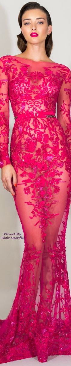Zuhair Murad Resort 2016 Fashion Show Pink Fashion, Fashion Show, Fashion Design, Women's Fashion, Beautiful Gowns, Beautiful Outfits, Mode Rose, Abed Mahfouz, Dress Vestidos