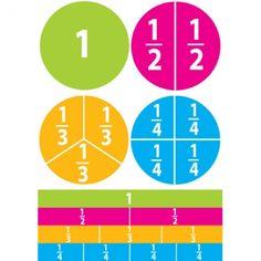 Pk) Math Die Cut Magnets Beginning Fractions Liquid Chalk Markers, Chalk Pens, Dry Erase Markers, Math Tutor, Math Skills, Math Lessons, Math Work, Fun Math, Math Games