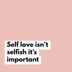 How can you love other people if you cant love yourself?