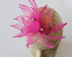 Beautiful Pink airy hair accessories by Tara M Designs Airy Hair, Tara M, Pink Hat, My Favorite Color, Hair Pieces, Fiber Art, Behind The Scenes, My Design, Hair Accessories