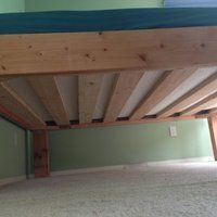 2 X 8 Bed: 5 Steps (with Pictures) Making A Bed Frame, Diy Bed Frame, Diy Wood Projects, Wood Crafts, Diy Platform Bed Plans, Wood Carving Tools, Woodworking Bed, Cool Baby Stuff, Diy Stuff