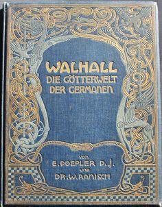 German Jugendstil Book Covers 1900s