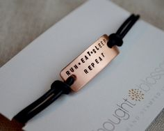 Stamped Runner Bracelet - Copper - Marathon Jewelry - Gifts for Runners