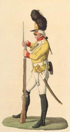 Grenadier der Leib-Grenadier-Garde im Exerzier-Rock um 1800,