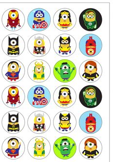 Minion Avengers Cake Toppers