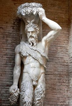 """Satyr """"Della Valle"""" one of a pair depicting Pan were found near the Theater of Pompey and are thought to be part of its original decoration sculpted from a Hellenistic period original 1st century BCE"""