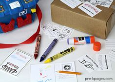 Pretend Play Post Office Theme for Preschool or Kindergarten. Printable Stamps, Postcards, Birthday Cards, Labels and more to making pretend play meaningful and fun!