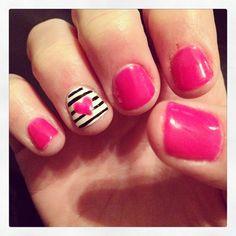 Love my Valentine's nails!!