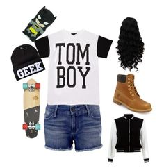 """Tomboy Me #2"" by geneva-lemon on Polyvore featuring Timberland, Black Orchid, Forever 21 and New Look"