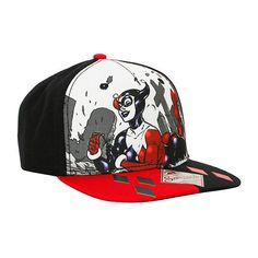 DC Comics Harley Quinn Cemetery Snapback Hat Hot Topic ($19) ❤ liked on Polyvore featuring accessories, hats, snapback hats и snap back hats