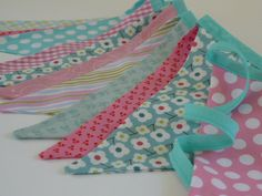 Girls Room bunting in CANDY PINK and AQUA Super by BettyandBarclay, $28.00 Little Girl Rooms, Little Girls, Girls Bedroom Colors, Mini Bunting, Girly Things, Girly Stuff, Aqua Fabric, Vintage Shabby Chic, Pink Candy