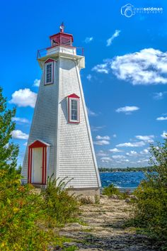"""Tobermory (Big Tub) Lighthouse"" at Lighthouse Point, Tobermory, Ontario (Canada)"