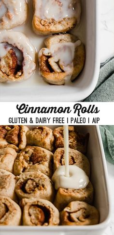 Classic AIP Cinnamon Rolls – Unbound Wellness These classic AIP cinnamon rolls are the real deal without all of the typical ingredients! They're grain-free, dairy-free, paleo, and AIP- compliant. Dessert Sans Gluten, Paleo Dessert, Gluten Free Desserts, Dairy Free Recipes, Diet Recipes, Dessert Recipes, Auto Immune Paleo Recipes, Paleo Snack Recipes, Easy Desserts