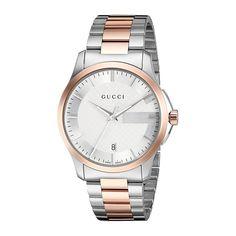 93ca8e813d3 Gucci YA126447 Mens G TIMELESS Two Tone Quartz Watch