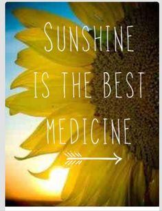 Sunshine IS the best medicine!