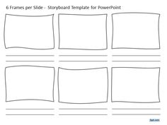 Free 6 Frames per Slide Storyboard Template for PowerPoint is a free printable storyboard template design for PowerPoint.