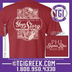 TGI Greek - Phi Sigma Rho - Recruitment - Comfort Colors - Greek T-shirts  #tgigreek #phisigmarho