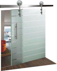 bussola scorrevole in vetro temperato con struttura in acciaio a ... - Porte In Vetro Decorate Moderne