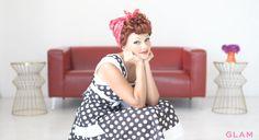 Lucille Ball makeup tutorial