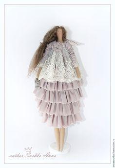 Кукла в стиле Тильда Бохо - кремовый, тильда кукла, тильда, тильда ангел, тильды