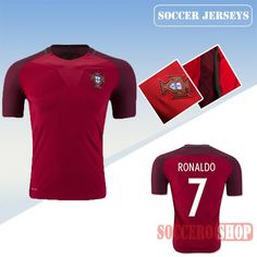 cb75dfcaa Latest Best Portugal Red 2016 2017 Home Soccer Jersey With Ronaldo 7  Printing