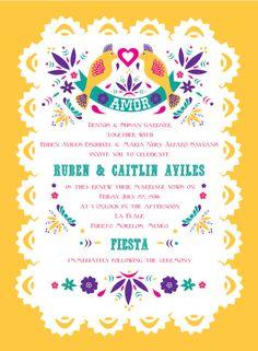 Conjunto invitación de boda mexicana DIGITAL por AlwaysBDesign