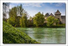Banja Luka, river Vrbas and an old Roman Castle