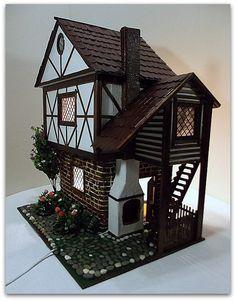 house for mini Mishutki - Fair M. Half-timbered house for mini Mishutki - Fair M. Half-timbered house for mini Mishutki - Fair M. Gingerbread House Template, Modern Dollhouse, Victorian Dollhouse, Felt House, Miniature Houses, Miniature Dolls, Medieval Houses, Sims 4 Houses, Minecraft Designs