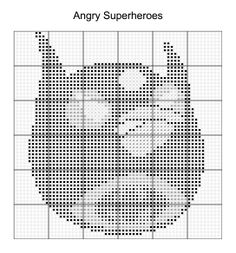 Cross Stitch - Angry Bird Superheroes 5 of 16 - batman