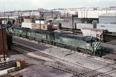 https://flic.kr/p/hcEugK | Denver, Colorado | Burlington Northern yard in Denver  in July 1978.