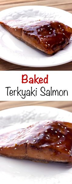 Baked Teriyaki Salmon - #sponsored recipe.  Salmon is marinated in a sweet and tangy Asian sauce, baked, then glazed in more teriyaki.  It's an easy, quick cooking dinner to help you eat more fish! #Seafood2xWk @DishonFish