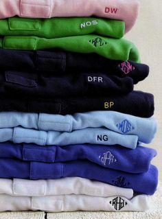 so many monogrammed polos! always classic
