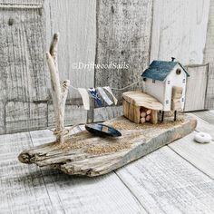 ***Elehandmade*** Креативные идеи и МК Driftwood Wall Art, Driftwood Projects, Driftwood Sculpture, Diy Projects, Driftwood Ideas, Beach Crafts, Diy And Crafts, Wood Creations, Miniature Houses