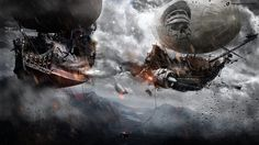 Airship Of Doom by Koshelkov / https://www.youtube.com/watch?v=VJr5S1Ah5vg  I know these aren't real, but I want one anyway. I'd also like enough time to (1) have the photoshop skills to (2) make art pieces like this for fun