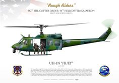 "UNITED STATES AIR FORCE 582nd Helicopter Group, 54th Helicopter Squadron ""Rough Riders"" Minot AFB, North Dakota Military Helicopter, Military Aircraft, Airplane Art, Rough Riders, Military Pictures, Aircraft Photos, Aviation Art, Aircraft Carrier, Military Art"