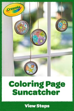 Catchin' those rays! Let the light shine thru this homemade suncatcher made with our Free Coloring Page. Easy Crafts For Kids, Craft Activities For Kids, Summer Crafts, Kid Crafts, Projects For Kids, Home Crafts, Arts And Crafts, Crayola Coloring Pages, Coloring Pages To Print