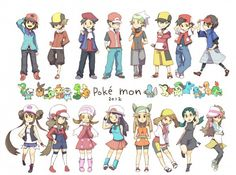 Pokemon All Trainer Protagonists