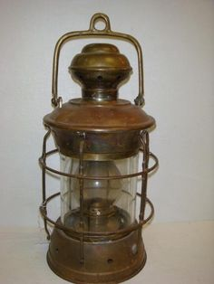 Ship's lantern. I would love one that actually held a tea light.