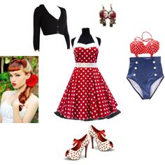 Rockabilly red Rockabilly, Bikinis, Swimwear, Shoe Bag, Red, Stuff To Buy, Shopping, Clothes, Collection