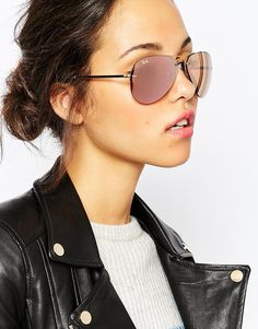 Image 3 of Ray-Ban Mirror Aviator Sunglasses