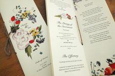 Br&newweddings / Bespoke Wedding Stationery / Order of Service / Floral Wedding / Shabby Chic Wedding / www.brandnewweddings.co.uk