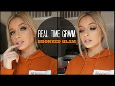 Smokey Bronze Real Time GRWM Makeup | How Long it REALLY Takes Girls to ...