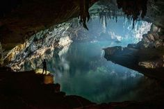 Hidden cave in Laos