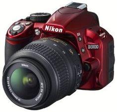 Nikon D3100 Digital SLR Camera and 18-55mm G VR DX AF-S Zoom Lens (Red)