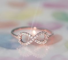 Perfect INFINITE / INFINITY ring in rose gold by SweetrainArt, $16.00