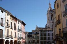 Market square in beautiful Xativa.