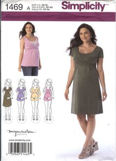 Simplicity 1469 Misses' Maternity and Nursing Knit Dress or Top