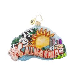 "Christopher Radko Ornament - ""California, Here I Come"""